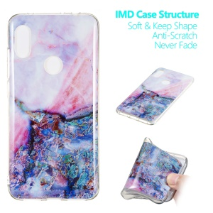 Marble Pattern IMD TPU Case Phone Cover for Xiaomi Redmi Note 6 Pro - Style H