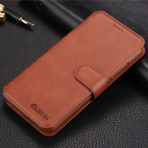AZNS for Xiaomi Redmi 6 (Dual Camera: 12MP+5MP) Leather Cell Phone Case [Wallet Stand] - Brown