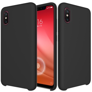 For Xiaomi Mi 8 Pro Case Liquid Silicone Mobile Case - Black