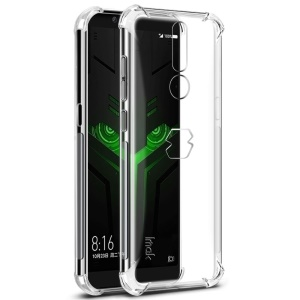 IMAK Smooth Feel Airbag Shockproof TPU Back Case + Screen Protector Film for Xiaomi Black Shark Helo - Transparent