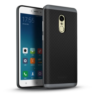 IPAKY PC Frame + TPU Back Hybrid Cover for Xiaomi Redmi Note 4 - Grey
