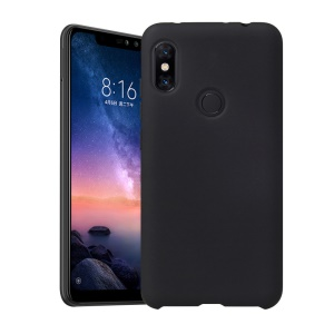 Rubberized Silky TPU Soft Cover for Xiaomi Mi Max 3 - Black