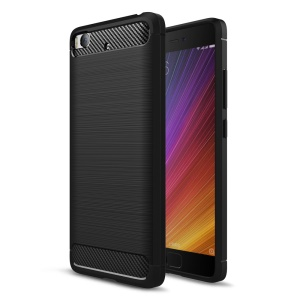 Carbon Fibre Brushed TPU Case for Xiaomi Mi 5s - Black