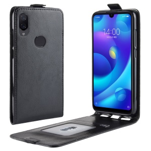 Crazy Horse Vertical Flip Leather Protection Phone Casing for Xiaomi Mi Play - Black