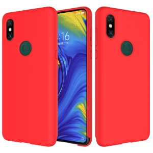 Liquid Silicone Protector Shell for Xiaomi Mi Mix 3 / Mix 3 5G - Red
