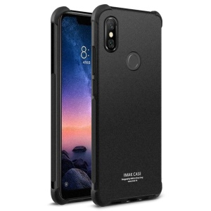 IMAK Skin Feel Anti-drop TPU Cover + Explosion-proof Screen Protection Film for Xiaomi Redmi Note 6 Pro - Matte Black