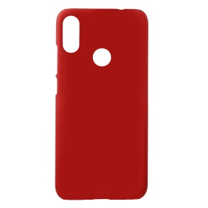 Rubberized Hard Plastic Phone Case Cover for Xiaomi Redmi Note 7 - Red