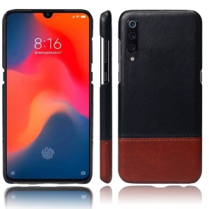 KSQ Bi-color Splicing PU Leather Coated PC Hard Shell for Xiaomi Mi 9
