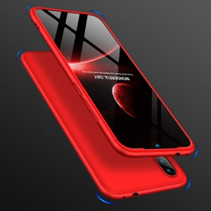 GKK Detachable 3-Piece All-wrapped Matte PC Case for Xiaomi Redmi Note 7S /Note 7 / Note 7 Pro (India) - Red