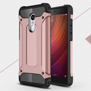 Armor Guard Plastic + TPU Combo Case for Xiaomi Redmi Note 4 - Pink