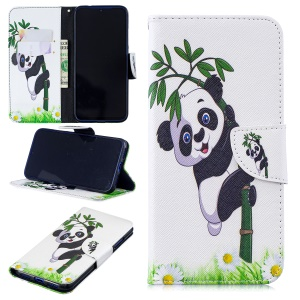 Pattern Printing Leather Wallet Case for Xiaomi Redmi Note 7 / Note 7 Pro (India) - Panda Pattern
