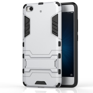 Solid PC + TPU Hybrid Case with Kickstand for Xiaomi Mi 5s - Silver