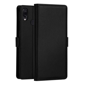 DZGOGO [Milo Series] PU Leather Wallet Case for Xiaomi Redmi Note 7 / Redmi Note 7 Pro (India) - Black