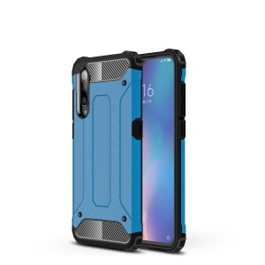 For Xiaomi Mi 9 Armor Guard Plastic + TPU Hybrid Protection Case - Baby Blue
