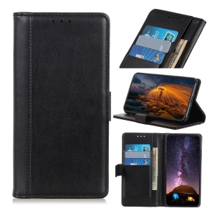 Wallet Stand Leather Protective Mobile Casing for Xiaomi Mi 9 - Black