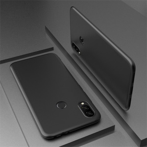 X-LEVEL Ultra-thin Frosted TPU Cell Phone Cover for Xiaomi Redmi Note 7 - Black