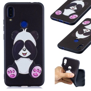 Pattern Printing Embossed TPU Case for Xiaomi Redmi Note 7S / Note 7 / Note 7 Pro (India) - Cute Panda