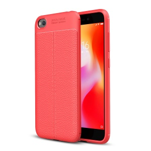 Litchi Skin Soft TPU Protective Case for Xiaomi Redmi Go - Red