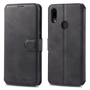 Custodia In Pelle AZNS Con Slot Per Schede Per Xiaomi Redmi Note 7 / Nota 7 Pro (india) - Nero
