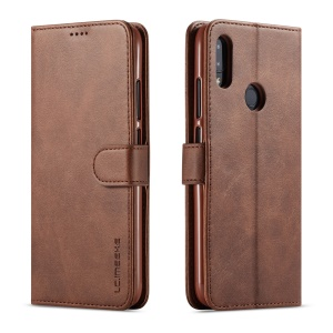 LC.IMEEKE Leather Wallet Stand Case for Xiaomi Redmi Note 7S / Note 7 / Note 7 Pro (India) - Coffee