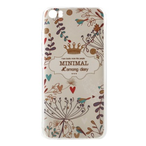 Softlyfit Embossed TPU Mobile Shell for Xiaomi Mi 5 - Minimal Among Diary Floral