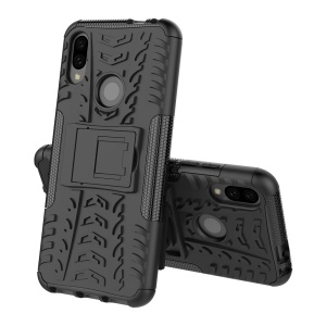 Cool Tyre PC + TPU Hybrid Cover with Kickstand for Xiaomi Redmi Note 7S / Note 7/Note 7 Pro (India) - Black