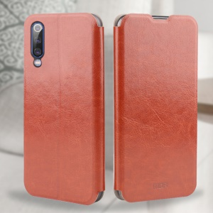 MOFI Rui Series Leather Case with Stand for Xiaomi Mi 9 - Brown