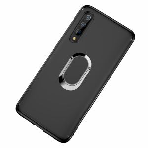 Matte TPU Mobile Case with Magnetic Finger Ring Kickstand for Xiaomi Mi 9 SE - Black