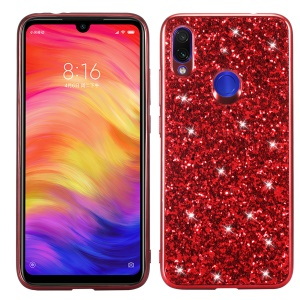 Glittery PC+TPU Protective Mobile Phone Case for Xiaomi Redmi Note 7S / Note 7 / Note 7 Pro (India) - Red
