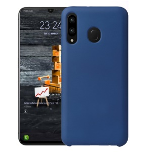 HOWMARK Rubberized Silky Soft TPU Case for Samsung Galaxy M30/A40s - Dark Blue