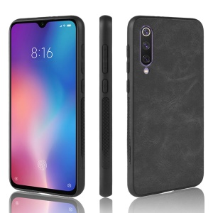 PU Leather Coated TPU Protective Phone Shell for Xiaomi Mi 9/Mi 9 Explore - Black