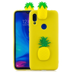 3D Pattern TPU Gel Protective Case for Xiaomi Redmi Note 7S / Note 7 / Note 7 Pro - Pineapple
