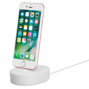 MOMAX U Dock MFI Certified Lightning Charging Dock for iPhone 7 Plus / 7 - White