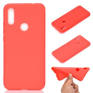 Soft Frosted TPU Case for Xiaomi Redmi 7 - Red