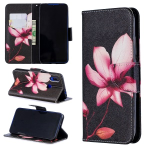 For Xiaomi Redmi 7 Pattern Printing Leather Stand Wallet Case - Flower Pattern