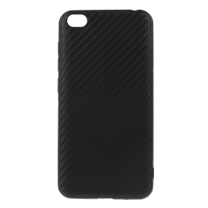 Carbon Fiber TPU Casing for Xiaomi Redmi Go - Black