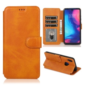 Extreme Series Wallet Stand TPU + PU Leather Protective Casing for Xiaomi Redmi Note 7 / Note 7S / Note 7 Pro (India) - Khaki