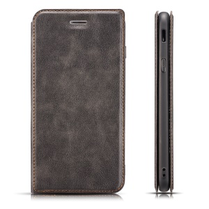 Ultra Thin PU Leather Phone Cover with Stand and Card Slots for Xiaomi Redmi K20 / Mi 9T / Redmi K20 Pro / Mi 9T Pro - Grey
