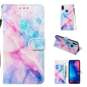 Pattern Printing Leather Wallet Stand Phone Cover for Xiaomi Redmi Note 7 / Note 7 Pro (India) / Note 7S - Style A