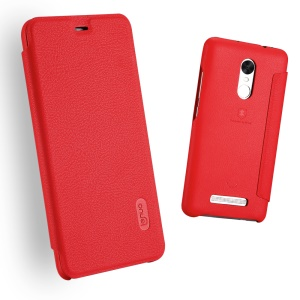 LENUO Ledream Card Slot Leather Cell Phone Cover for Xiaomi Redmi Note 3 Pro Special Edition - Red
