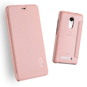LENUO Ledream Leather Card Holder Mobile Phone Shell for Xiaomi Redmi Note 3 Pro Special Edition - Pink