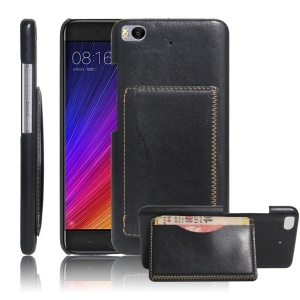 For Xiaomi Mi 5s Vintage Leather Coated Hard Case Phone Accessory - Black