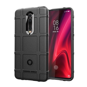 Grid Texture Rugged TPU Phone Cover for Xiaomi Redmi K20 Pro/Xiaomi Redmi K20/Xiaomi Mi 9T/Xiaomi Mi 9T Pro - Black