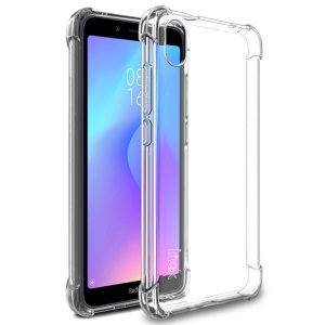 IMAK Shockproof TPU Case Cover + Explosion-proof Screen Protector for Xiaomi Redmi 7A - Transparent