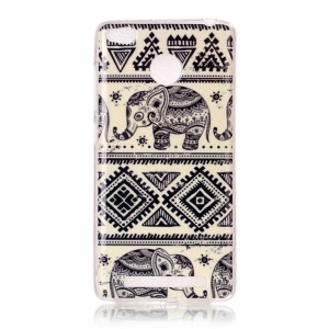 Pattern Printing IMD TPU Case for Xiaomi Redmi 3s - Elephant and Geometric Pattern