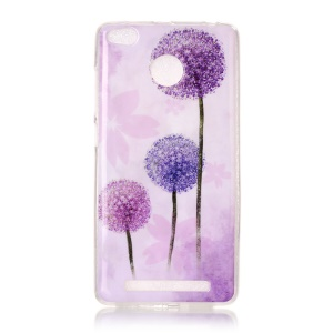 Pattern Printing IMD TPU Shell Case Cover for Xiaomi Redmi 3s - Dandelion Pattern