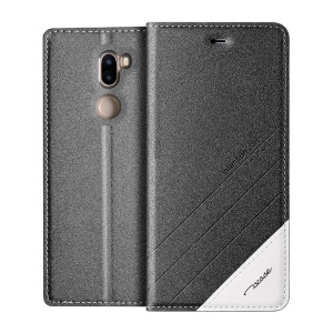 TSCASE Sand-like Matte Stand Leather Magnetic Case for Xiaomi Mi 5s Plus - Dark Grey