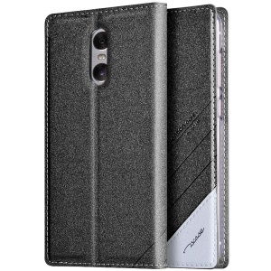 TSCASE Sand-like Matte Magnetic Leather Stand Case for Xiaomi Redmi Pro - Dark Grey