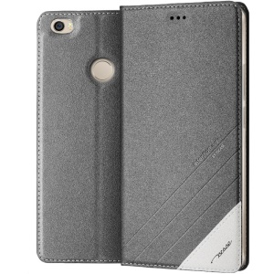 TSCASE Sand-like Texture Smart Leather Stand Case for Xiaomi Mi Max - Black