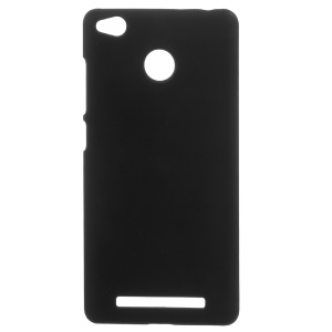 Rubberized PC Back Cell Phone Case for Xiaomi Redmi 3x - Black